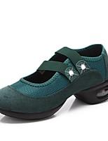 Недорогие -Жен. Танцевальные кроссовки Тюль Кроссовки В помещении на открытом воздухе Планка На толстом каблуке Черный Красный Зеленый