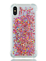 abordables -Coque Pour Apple iPhone X / iPhone 8 Antichoc / Liquide Coque Brillant Flexible TPU pour iPhone X / iPhone 8 Plus / iPhone 8
