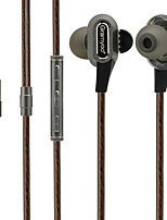 cheap -X68 In Ear Audio IN Headphones Dynamic Aluminum Alloy Sport & Fitness Earphone with Volume Control / with Microphone Headset