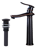 cheap -Faucet Set - Widespread Oil-rubbed Bronze Gold Centerset Single Handle One Hole