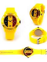 baratos -Geneva Homens Mulheres Quartzo Relógio de Moda Relógio Esportivo Relógio Casual Chinês Relógio Casual Legal Word / Frase Silicone Banda