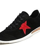 Недорогие -Муж. обувь Резина Весна / Лето Удобная обувь Кеды Черный / Серый / Хаки