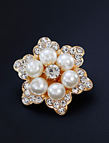 cheap -Women's Brooches Rhinestone Pearl Alloy Flower Gold Silver Floral Fashion European Jewelry Wedding Daily Costume Jewelry