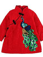 abordables -Enfants Fille Jacquard Manches Longues Robe