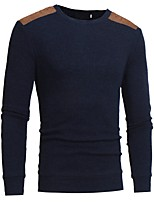 cheap -Men's Basic Pullover - Solid Colored