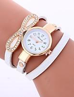 baratos -Mulheres Quartzo Relógio de Moda Chinês imitação de diamante PU Banda Casual Fashion Preta Branco Azul Vermelho Cinza Rosa Bege Verde