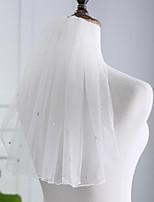 baratos -Uma Camada Comum Voile / Transparente Véus de Noiva Véu Ombro Com Diamante Acrilico POLY