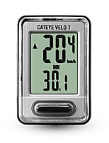 cheap -CatEye® Velo 7 CC-520 Stopwatch Bike Computer / Bicycle Computer Wired Speedometer Odometer Speed Mountain Bike Outdoor Cycling