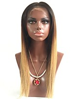 cheap -Remy Human Hair Wig Brazilian Hair Straight Layered Haircut 130% Density With Baby Hair Natural Hairline Blonde Short Long Mid Length