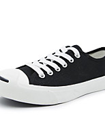 cheap -Women's Shoes Canvas Spring Fall Comfort Sneakers Low Heel for White Black