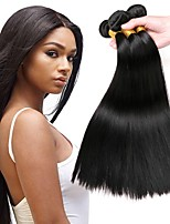 cheap -Brazilian Hair Straight Human Hair Extensions Human Hair Weaves Extention / Hot Sale Natural Black All