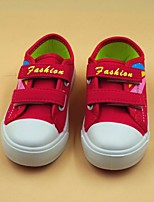 cheap -Girls' Shoes Canvas Spring Fall Comfort Sneakers for Casual Red Blue