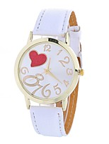 cheap -Women's Quartz Fashion Watch Chinese Large Dial PU Band Heart shape Casual Black White Blue Brown Green Pink Rose