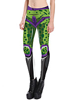cheap -Women's Daily Basic Legging - Geometric, Print Mid Waist