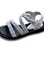cheap -Girls' Shoes Sparkling Glitter Leatherette Summer Comfort Sandals Hook & Loop for Kids Children's Wedding Party & Evening Black Silver