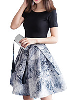 cheap -Women's Going out Slim Tank Top - Floral Skirt