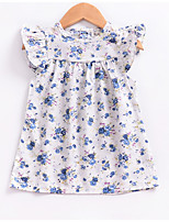cheap -Toddler Girls' Daily / Holiday Floral Print Sleeveless Dress