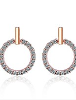 cheap -Women's Zircon S925 Sterling Silver Stud Earrings Hoop Earrings - Fashion Korean European Circle Geometric For Wedding Daily