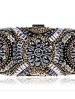 preiswerte -Damen Taschen PU - Leder / Polyurethan Leder Polyester Abendtasche Perlenstickerei für Veranstaltung / Fest Normal Ganzjährig Schwarz