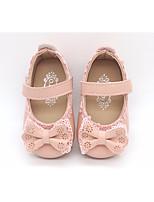 Недорогие -Девочки Обувь Дерматин Весна / Осень Обувь для малышей / Удобная обувь На плокой подошве для Повседневные Белый / Черный / Розовый
