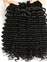 cheap -Brazilian Hair Wavy Human Hair Weaves 50g x 4 Hot Sale Extention All Christmas Gifts Christmas Wedding Party Special Occasion Halloween