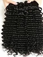 Недорогие -Бразильские волосы Волнистый Накладки из натуральных волос Ткет человеческих волос Удлинитель / Горячая распродажа Черный Все