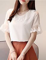 Недорогие -Жен. Блуза Очаровательный Однотонный