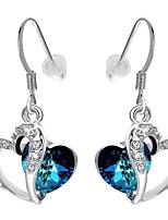cheap -Women's Heart Drop Earrings - Bohemian / Korean Silver Earrings For Party / Gift