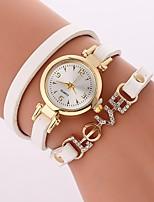 baratos -Mulheres Quartzo Bracele Relógio Chinês imitação de diamante Relógio Casual PU Banda Casual Boêmio Preta Branco Azul Vermelho Marrom