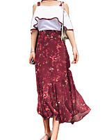 cheap -Women's Blouse - Floral Skirt