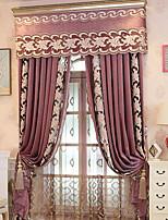 economico -Blackout tende tende Camera da letto Contemporaneo Cotone / poliestere Ricami