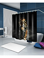 cheap -Shower Curtains & Hooks Contemporary Modern Polyester Animal Machine Made Waterproof Bathroom