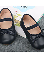 cheap -Girls' Shoes Synthetic Microfiber PU Spring Fall Flower Girl Shoes First Walkers Flats for Casual Black Dark Blue Gray