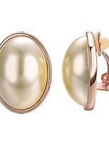 economico -Per donna Orecchini a clip - Stile Boho / Coreano Oro / Argento Circolare Orecchini Per Feste / Regalo