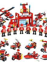 cheap -Building Blocks 845pcs Vehicles / Warrior Simple / Parent-Child Interaction Fire Engine Vehicle / Sprinkler Truck Unisex Gift