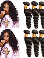 abordables -Cheveux Brésiliens Ondulé Extensions Naturelles Tissages de cheveux humains Extention / Grosses soldes Noir Naturel Tous