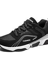 abordables -Homme Chaussures Tulle Printemps Automne Confort Basket pour Décontracté De plein air Blanc Noir Rouge