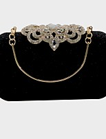 cheap -Women's Bags Satin Evening Bag 2 Pieces Purse Set Sashes / Ribbons for Event / Party / Formal White / Black