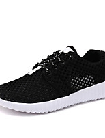 cheap -Men's Shoes Tulle Spring / Fall Comfort Sneakers White / Black / Pink