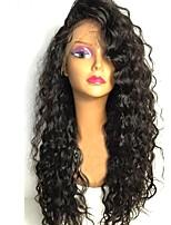 Недорогие -Remy Парик Бразильские волосы Кудрявый Стрижка каскад 130% плотность С детскими волосами Для темнокожих женщин Черный Короткие Длинные