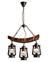 cheap -Rustic / Lodge Artistic Chandelier Downlight - Mini Style, 110-120V 220-240V Bulb Not Included