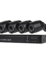 Недорогие -4 ch система безопасности с 4ch 1080n ahd dvr 4pcs 1.0mp атмосферостойкие камеры с ночным видением