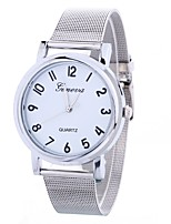 cheap -Women's Quartz Wrist Watch Chinese Casual Watch Alloy Band Casual Fashion Silver