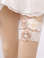 cheap -Chiffon Lace Fashion Wedding Wedding Garter 617 Rhinestone Faux Pearl Garters Wedding Party Evening