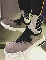 abordables -Homme Chaussures Tissu Printemps / Automne Confort Basket Noir / Gris