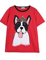 cheap -Women's Basic T-shirt - Animal, Print