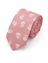 cheap -Men's Vintage Party Necktie - Floral Jacquard