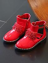 Недорогие -Девочки Обувь Полиуретан Зима Зимние сапоги Ботинки для Черный / Красный / Розовый