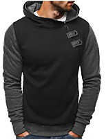 cheap -Men's Plus Size Sports Street chic Long Sleeve Slim Hoodie - Solid Colored Hooded