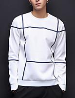 cheap -Men's Street chic Sweatshirt - Striped